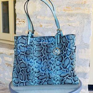 NWT Michael Kors snake print embossed leather
